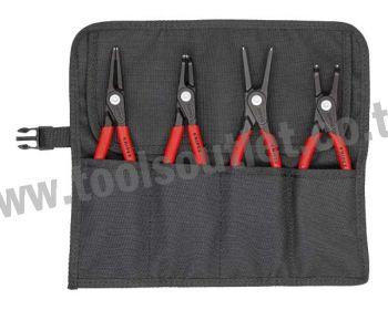 Werkzeugtasche bestueckt 4 teilig ชุดคีมแหวนล็อคสลัก ชุดปากคีบ KNIPEX 00 19 57 V01